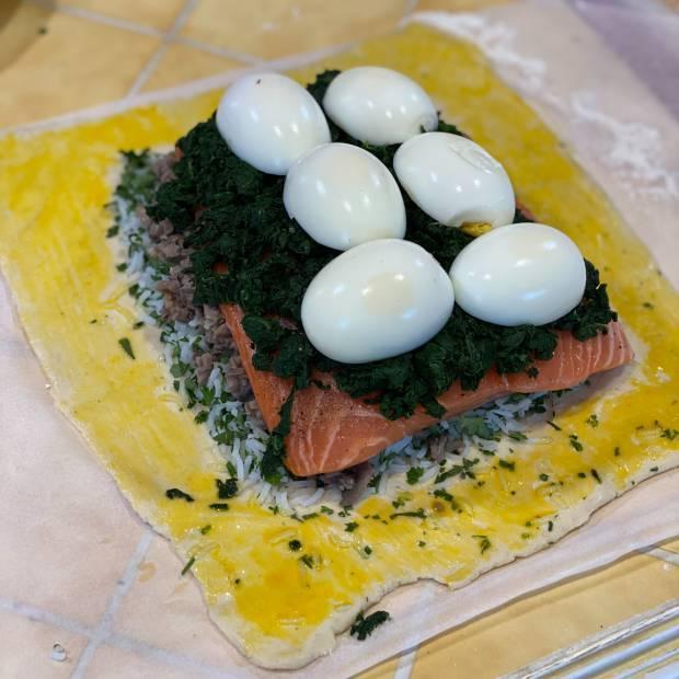 Koulibiac de saumon de Maïté