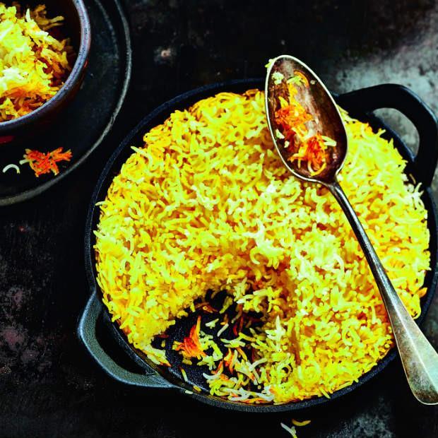 Riz croustillant à l'iranienne