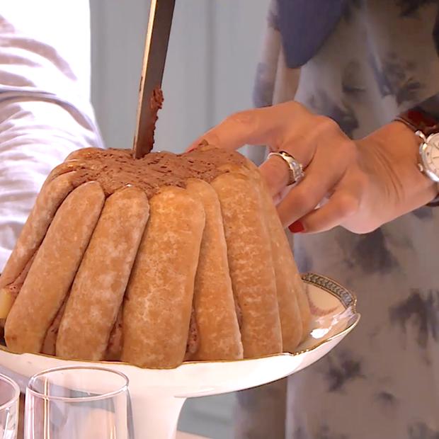 Charlotte poire-chocolat et pain d'épices de Catherine et Chloé