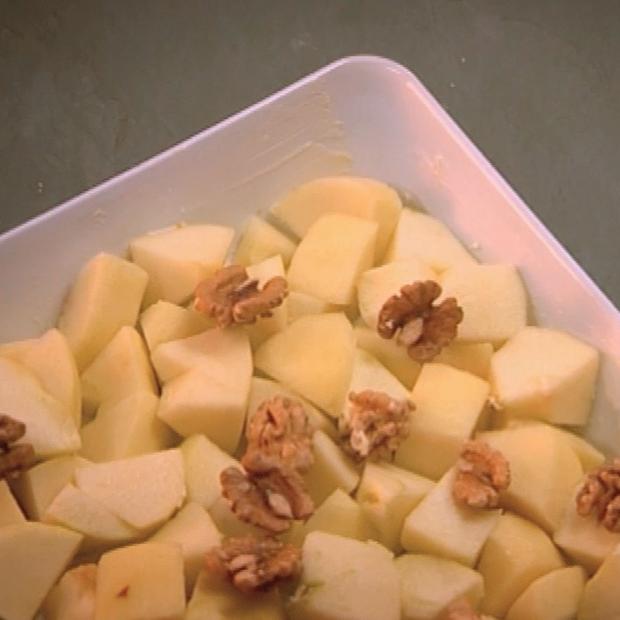 Crumble de pommes aux noix