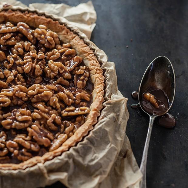 La tarte aux noix et au caramel d'Aline