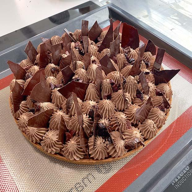 Tarte au chocolat de Christophe Roussel