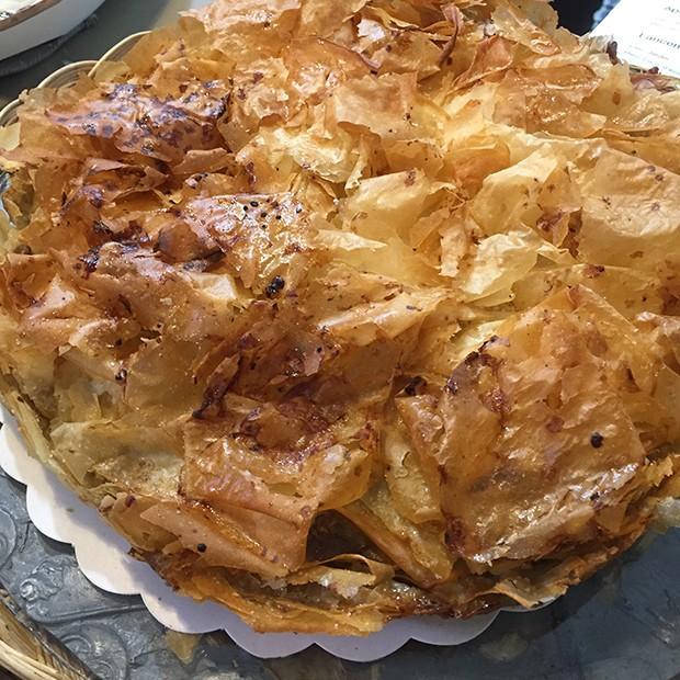 Croustade aux pommes et au foie gras d'Isabelle