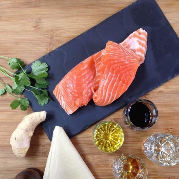 Croustillant de saumon au gingembre