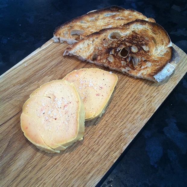 Foie gras cuit-cru au sel