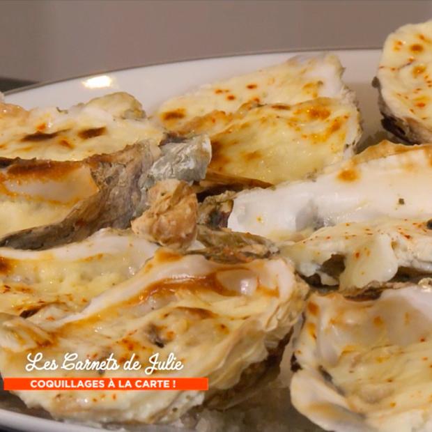 Grosses huîtres creuses gratinées au four de Gilles