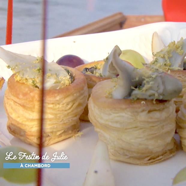 Petits feuilletés aux huîtres et artichauts de Didier Clément