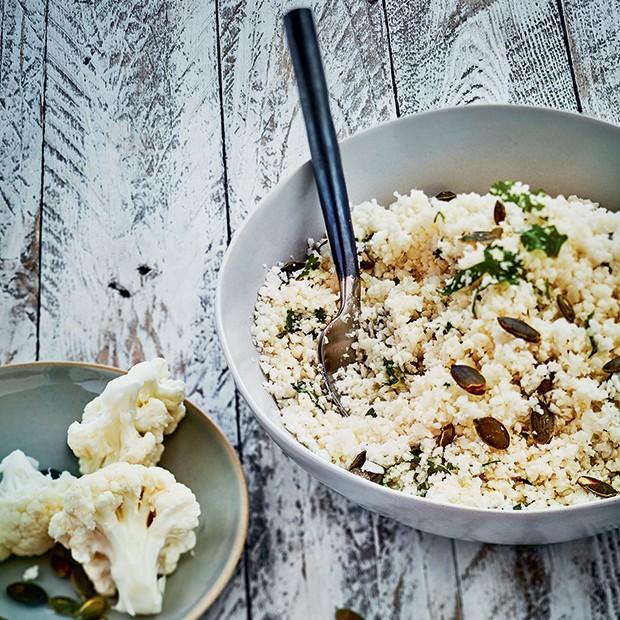 Salade de chou-fleur aux graines de courge