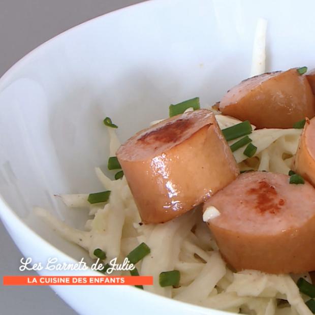 Salade de chou aux saucisses de Strasbourg de Laura Annaert