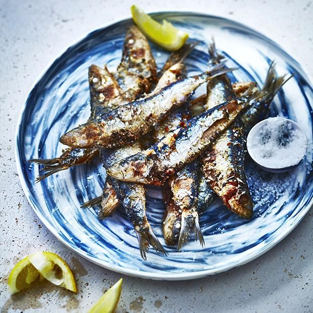 Sardines frites à la portugaise