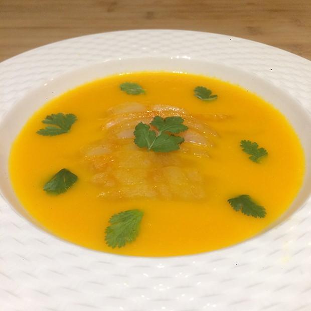 Soupe de carottes au haddock au gingembre