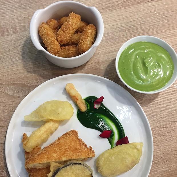 Tempuras de légumes et croquettes de poisson de Thierry Marx