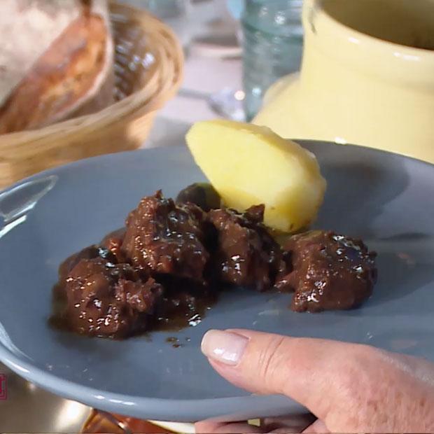 Daube de bœuf aux olives noires de Jacqueline