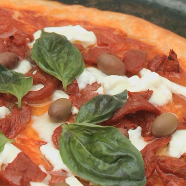 La pizza traditionnelle d'Alba Pezzone