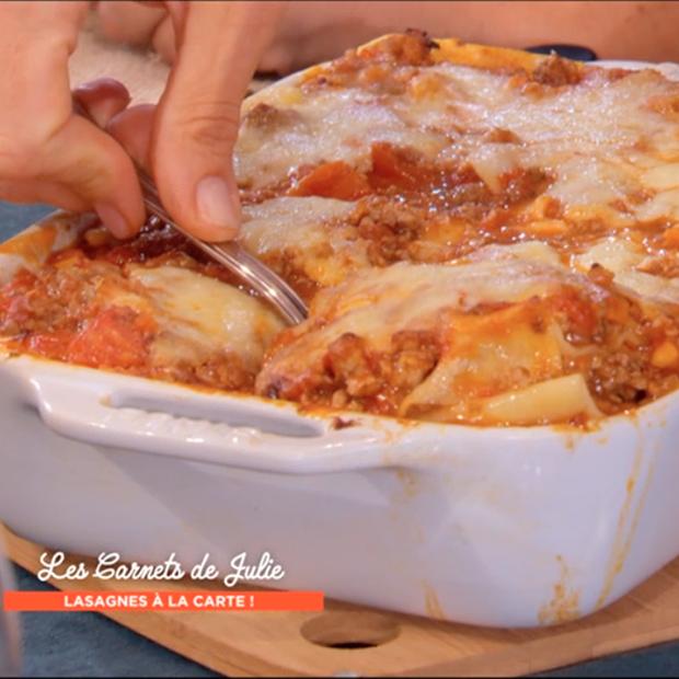Lasagnes à la bolognaise, aubergines et mozzarella de Julie