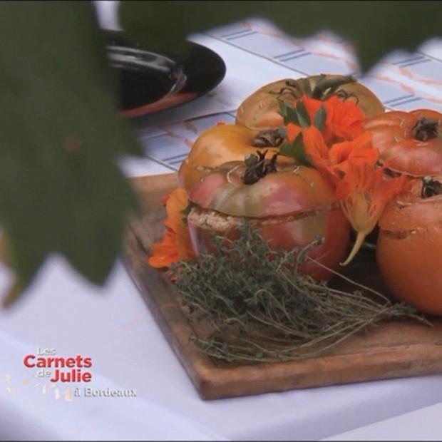 Tomates farcies cuites et crues de Nicolas