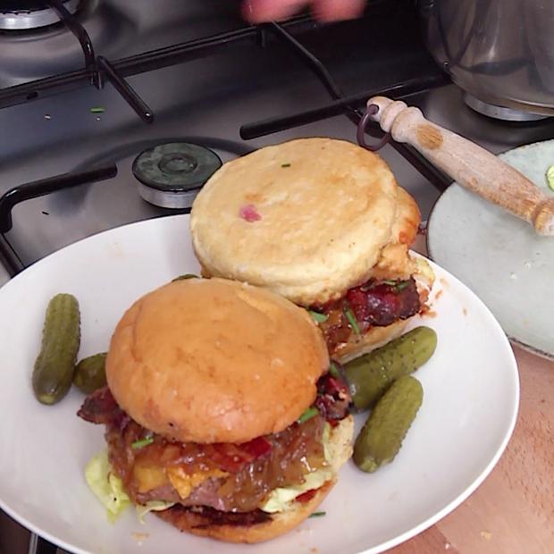 Véritable hamburger de Zach
