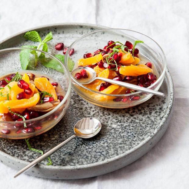 Salade de grenade à la fleur d'oranger