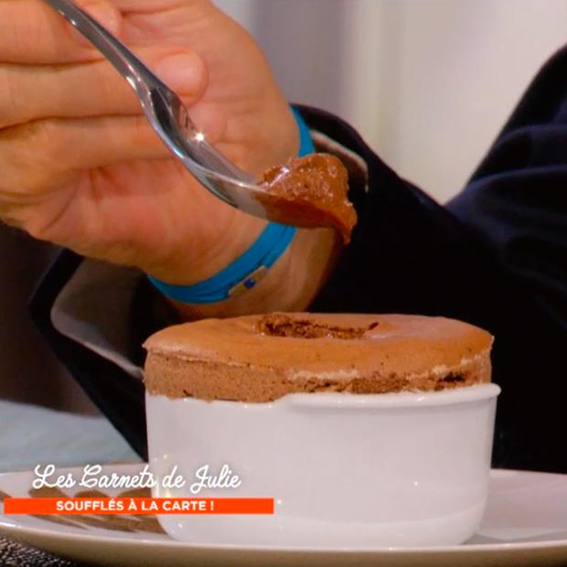 Soufflé au chocolat de Julie