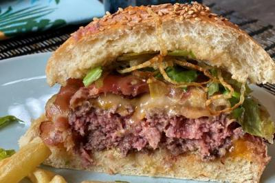 Ultimate home made burger de Julie
