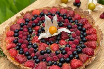 Tarte sablée aux petits fruits d'été de Laetitia