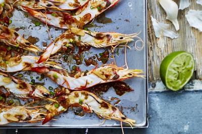 Crevettes, ail et gingembre