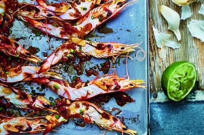 Crevettes ail gingembre