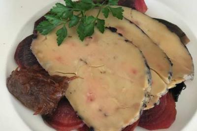 Foie gras de canard et chutney de rhubarbe de Gabriel et Olivia