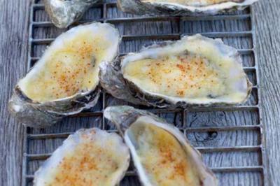 Huîtres gratinées à l'emmental de Joël