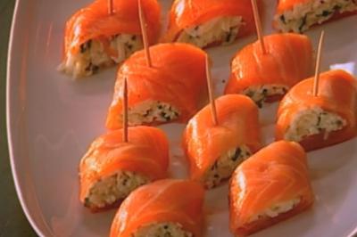 Rolls au saumon fumé et au cresson