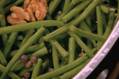 Salade de haricots verts  à la vapeur