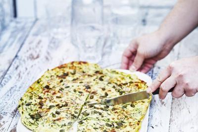 Scarpaccia de courgettes au parmesan