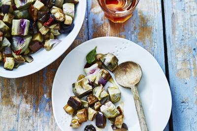 Tartare d'artichauts et aubergines