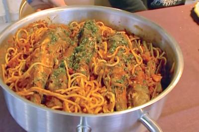 Gallinettes aux spaghettis de Serge
