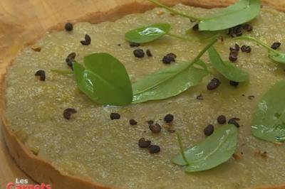 La tarte rhubarbe au poivre Timut et crème de curry corsaire d'Olivier Roellinger