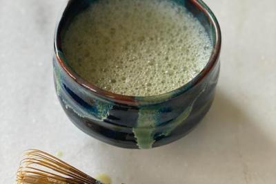 Thé vert matcha au lait d'amandes