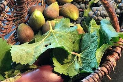Cailles rôties en feuille de vigne de Vincent Simon