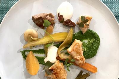 Légumes en papillote et sot-l'y-laisse poêlés d'Anthony Bonnet