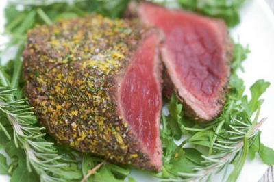 Rôti de bœuf au romarin et au vinaigre balsamique