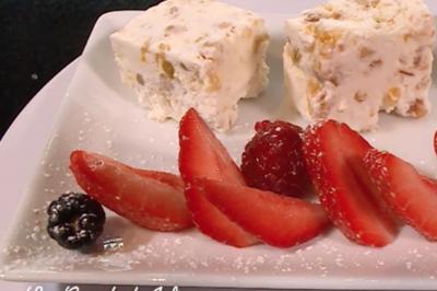 Semifreddo (nougat glacé) aux fruits de Thierry Marx